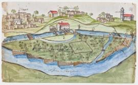 Die Gampriner Rheinmühle – eine Zeichnung aus dem Jahre 1721